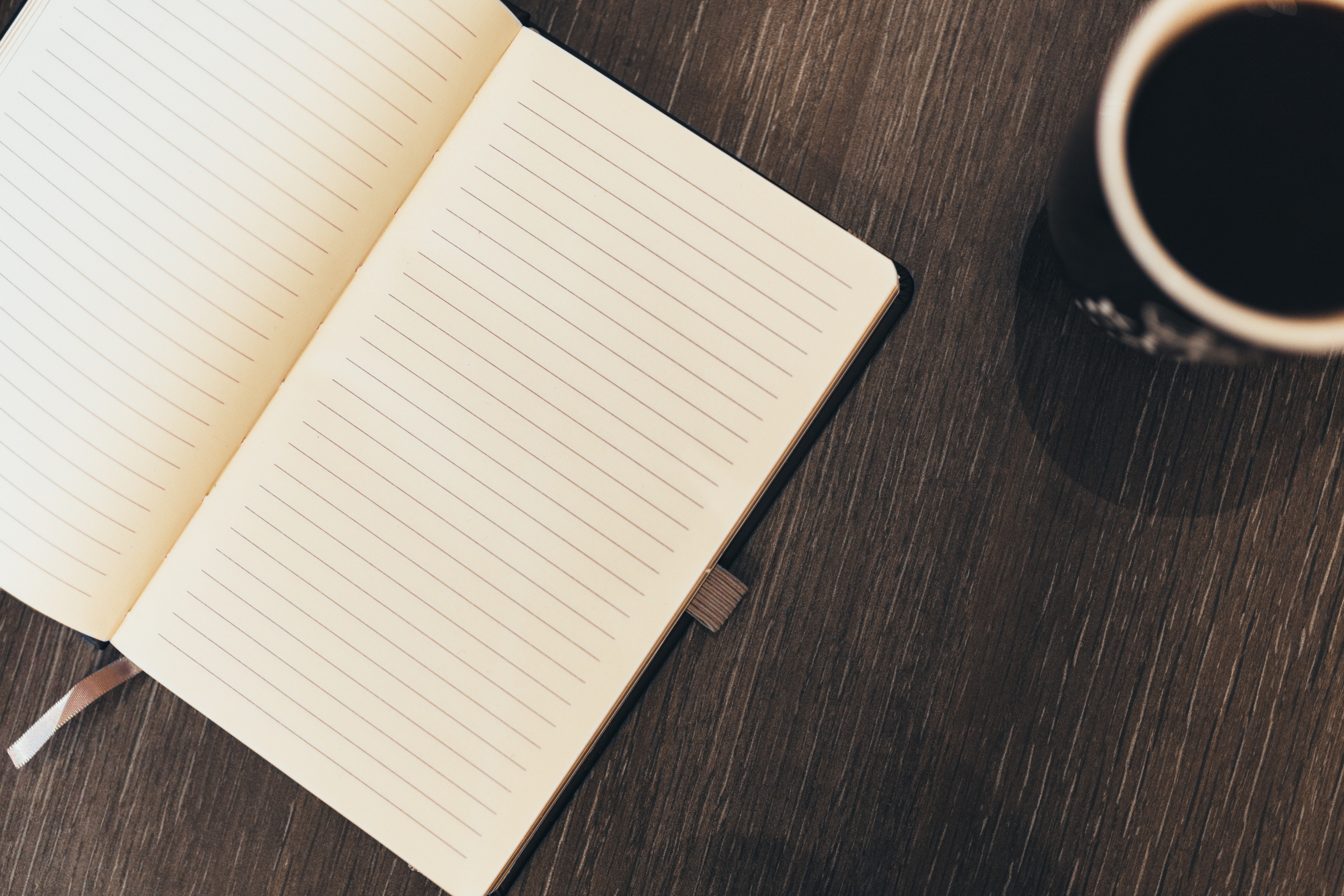 Journal open to blank page